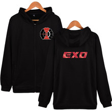 Kpop EXO Hooded Sweatshirt ผู้หญิงเกาหลี Hip Hop (China)