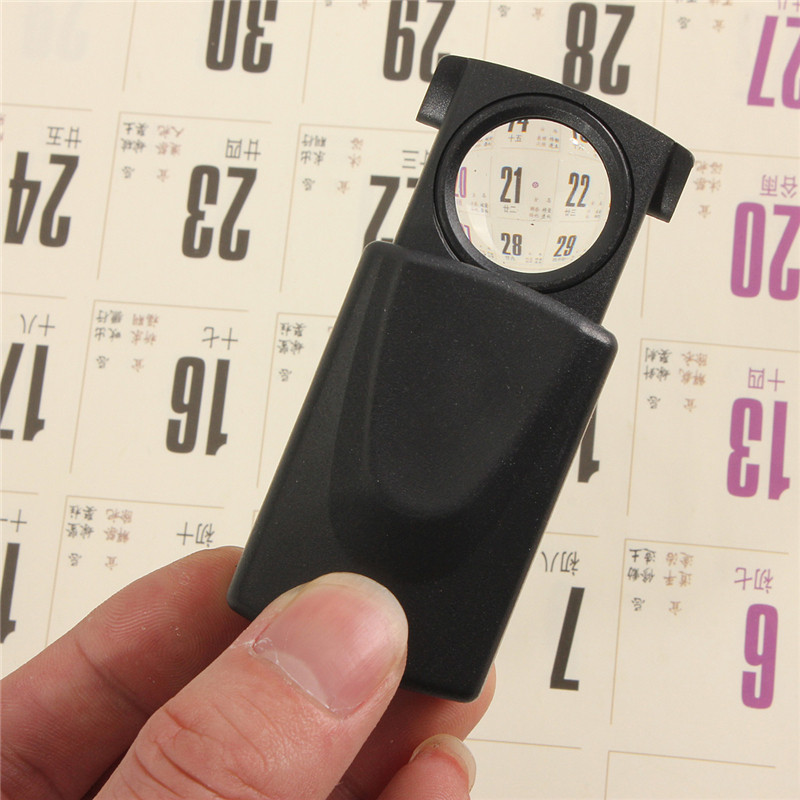 30x21mm  Pull Type Eye Glass Magnifier Jewellers Loupe Lens Jewellery Hallmark Magnifing LED Light Watch Repair Tool