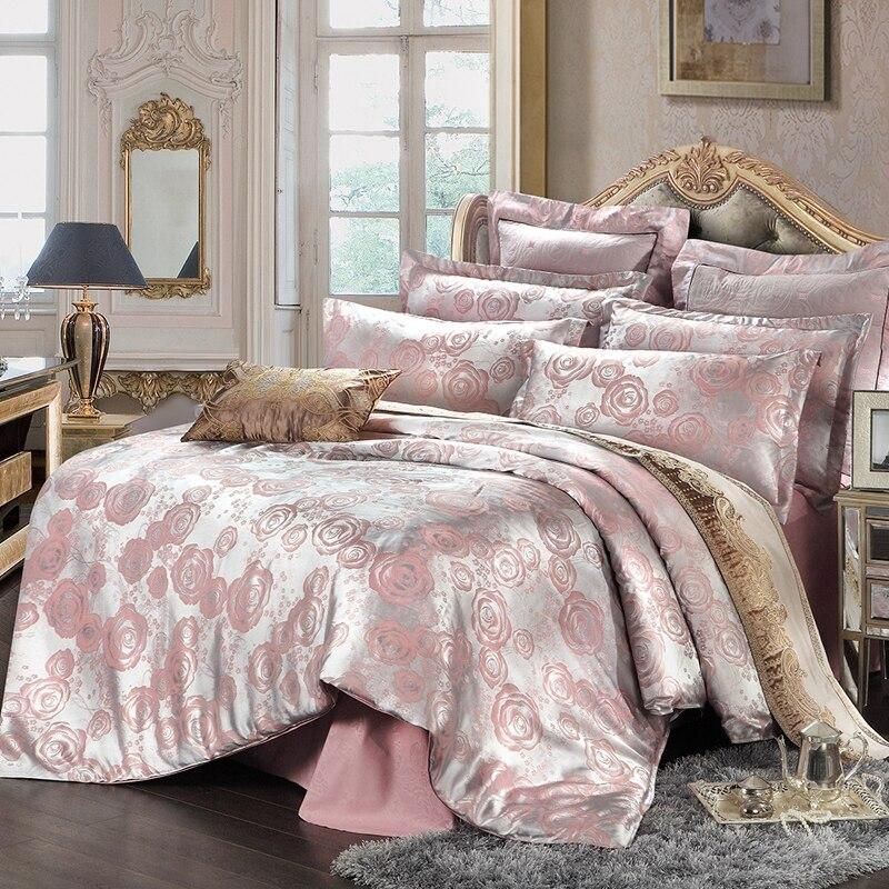 Jacquard textil para el hogar  de La Boda Juegos de Cama Queen Size 4 Unids Fund
