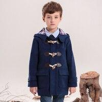 KAMIWA 2015 Autumn And Winter Vintage Woolen Boys Coats British Style Outerwear Hooded Jackets Children S