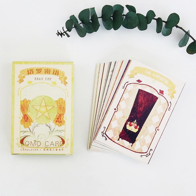 28 Sheets/Set Vintage Tarot Mini Postcard /Greeting Card/Message Card/ Kids Gift Postcard Kawaii Stationery