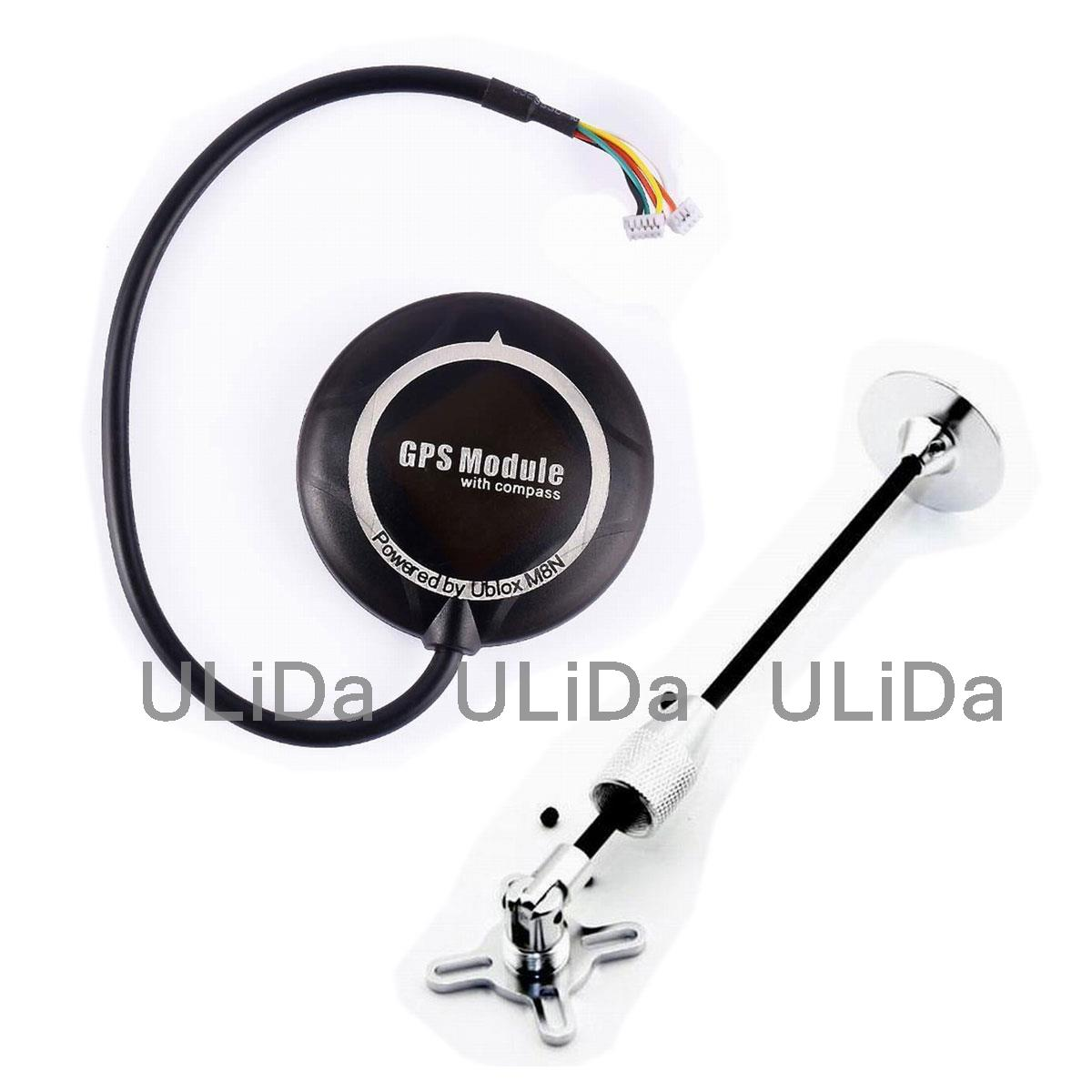 Ublox NEO-M8N GPS Module /w Compass + Folding Antenna Mount Holder for APM PIX original naza gps for naza m v2 flight controller with antenna stand holder free shipping