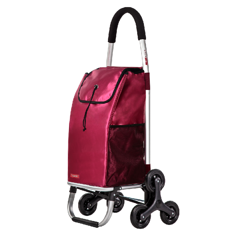 Aluminum Alloy Foldable Shopping Cart  Six Wheels Climbing Trolly With High Quality Waterproof Shopping Bag Trolley winnie the pooh iphone case