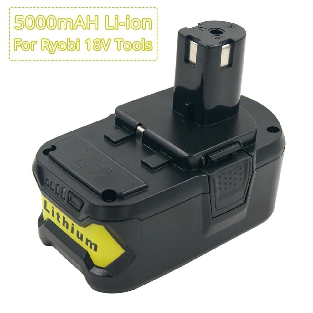 Batterie Rechargeable 18 V 5A batteries de remplacement au Lithium pour outils électriques sans fil Ryobi ONE P108 P109 P106 P105 RB18L40 RB18L50