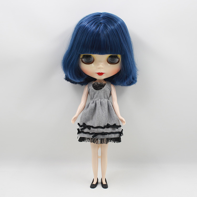 Free shipping cost Mixed green hair Nude blyth Doll