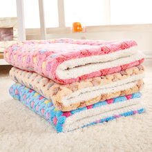 Fast Shipping Dog Bed Mat Blanket Soft Warm Coral Fleece Pet For Cat Manta Perro Panier Pour Chien Products