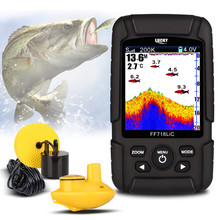 LUCKY Portable Wireless Fish Finder Echo Sounder 2.8″ Color LCD 200KHz/83KHz Dual Sonar Frequency 328ft  FF718LiCD Echo Sounders