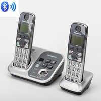 DECT 6.0 lien de téléphone numérique sans fil vers les téléphones portables téléphone sans fil Bluetooth avec système de réponse