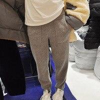 Korean Women Knitted Harem Pants New Vogue Female Casual Trousers Ladies All Match High Waist Pantalon Femme Spodnie Damskie