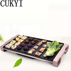 CUKYI household Electric Grills & Electric Griddles Barbecue Smokeless Nonstick Medical stone Multifunctional frying pan 1800W