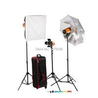 Godox 750 Вт 3x250 Вт Фотостудия вспышка Освещение фотографии Strobe Light Комплект для портретной модные свадебные реклама съемки.