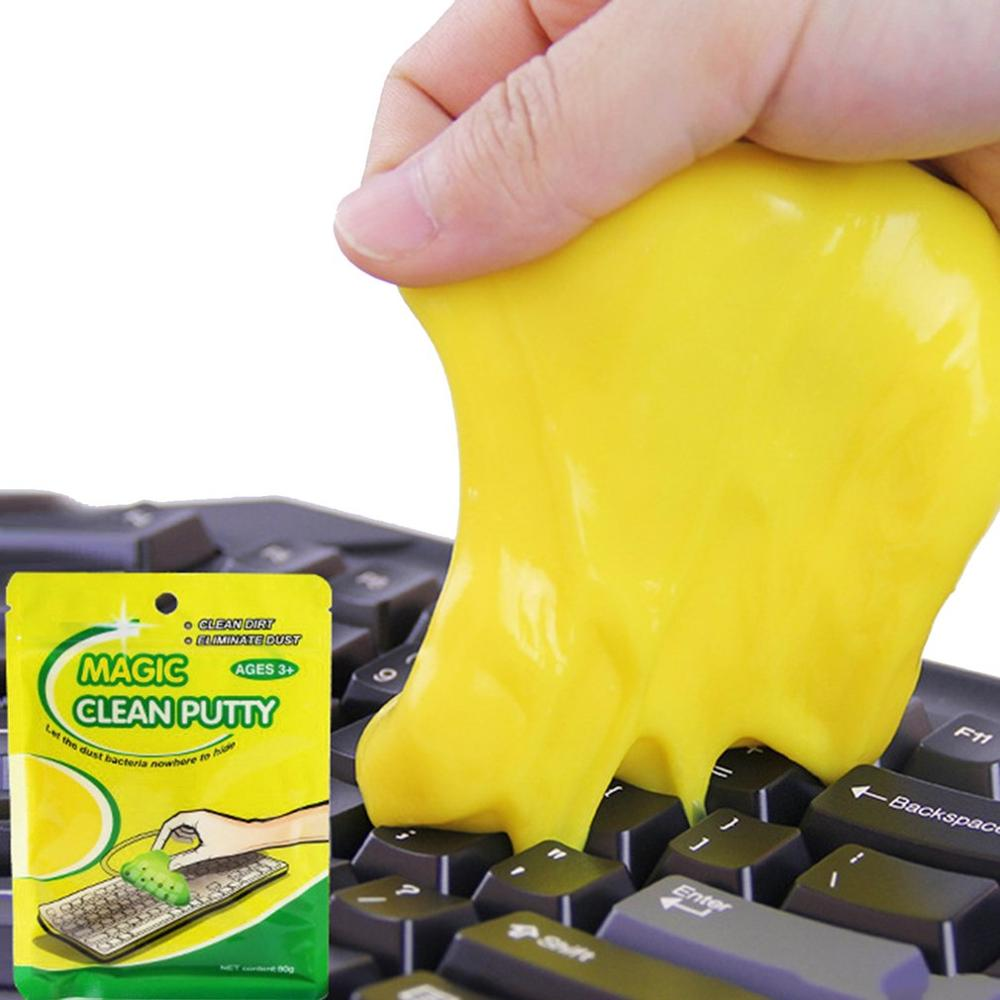Magic Innovative Super Soft Sticky Dust Cleaning Gel Gum Computer Car PC Laptop Keyboard Universal Dust Cleaner(China)
