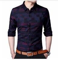 Men S Printed Dress Shirt Cotton Casual Long Sleeve Shirt Regular Fit Button Down Point Collar