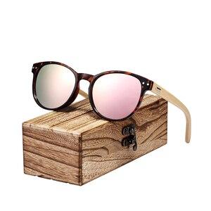 Image 5 - BARCUR בציר עגול משקפי שמש במבוק מקוטבות מקדשי עץ שמש משקפיים גברים נשים גווני oculos