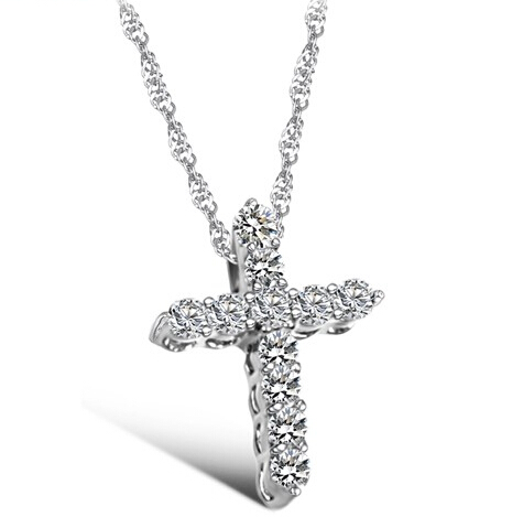 Silver Plated Cross Christ...