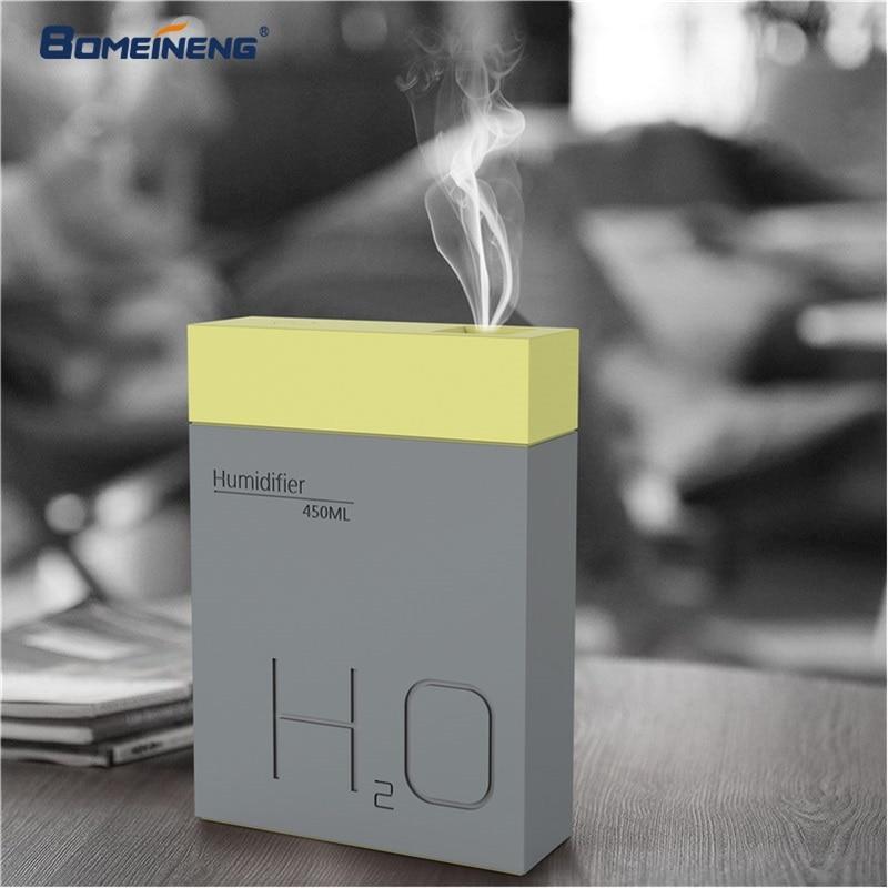 BOMEINENG 450 mL humidificador de aire del difusor de aceite esencial de aromaterapia difusor de Aroma eléctrica fabricante de la niebla humidificador de la Oficina para el hogar