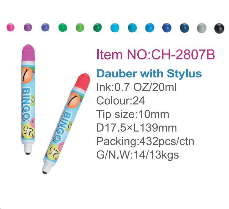 Mini Stylus Bingo dapper pen CH-2807B (purple ink color) -may play Tracditional & Electronic version bingo games