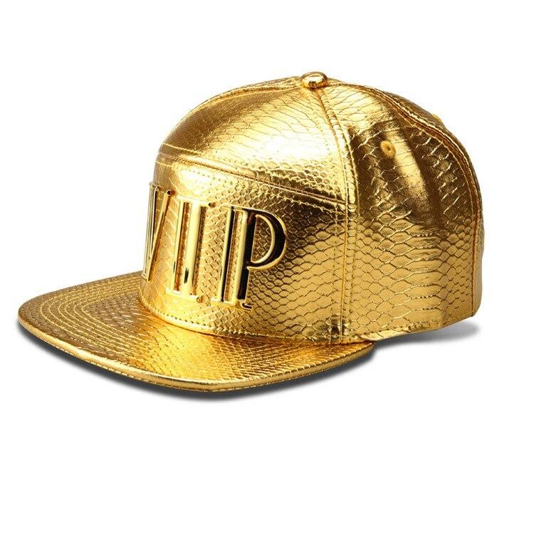 bd9d475f249d De lujo de la PU del cocodrilo Hip Hop sombrero Diamond grano Unisex del  casquillo del Snapback logotipo del oro gorra de béisbol hombres mujeres ...