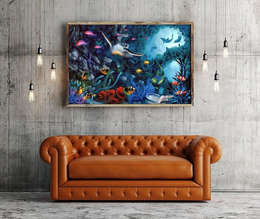 A0654 David Miller joyas mar animales acuáticos. HD Canvas Print ...