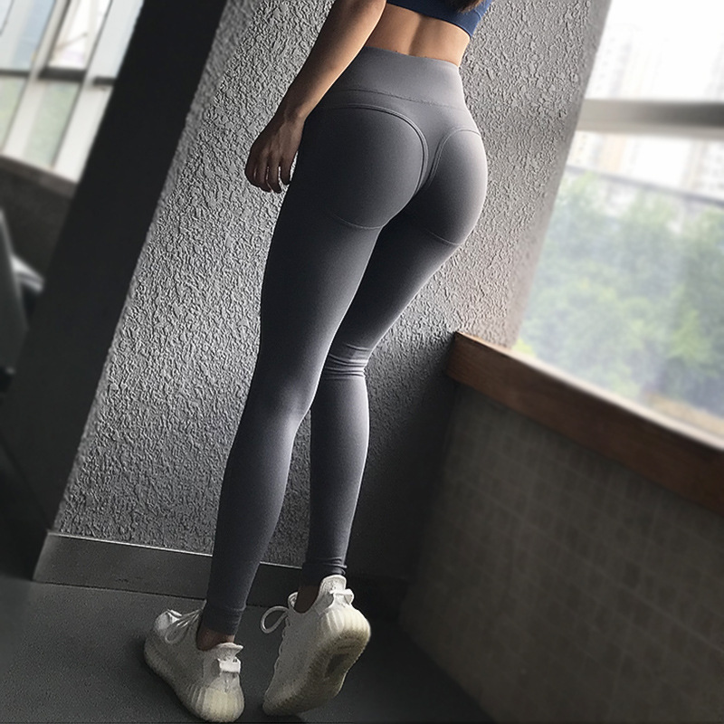 High Waist Yoga Pants Push Up Seamless Leggings Slim Hips Up Gym Sports Pants Running Workout Fitness Leggings Ladies Trousers in Yoga Pants from Sports Entertainment
