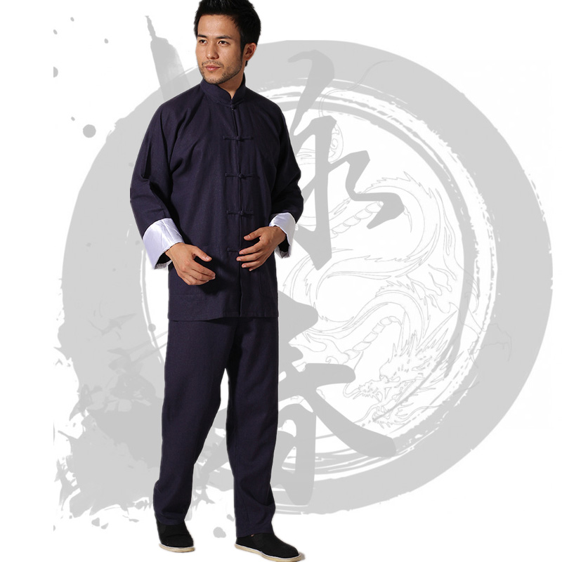 Wing Chun Clothing Bruce Lee Clothes China Tang Costume Tai Chi Suits Kung Fu Uniform Men's Shirt+pants 3 Colors