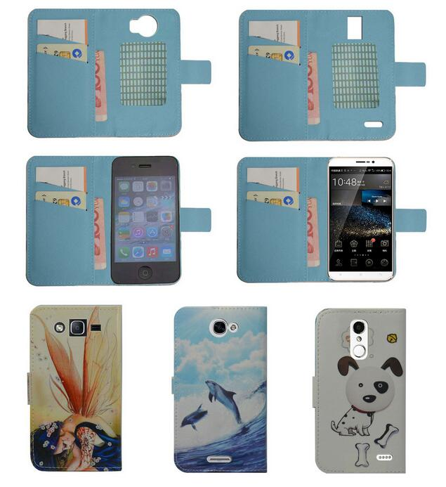 For Karbonn Titanium Frames S7 case Wallet Card slot deluxe PU leather cartoon cute Cover + mini stylus