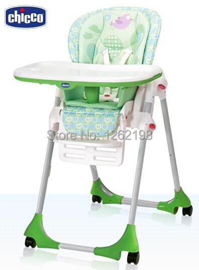 Superbe Original ITALY Chicco Polly Highchair,Duplex Tray Children Portable Soft  Cushion Dining Chair . Free