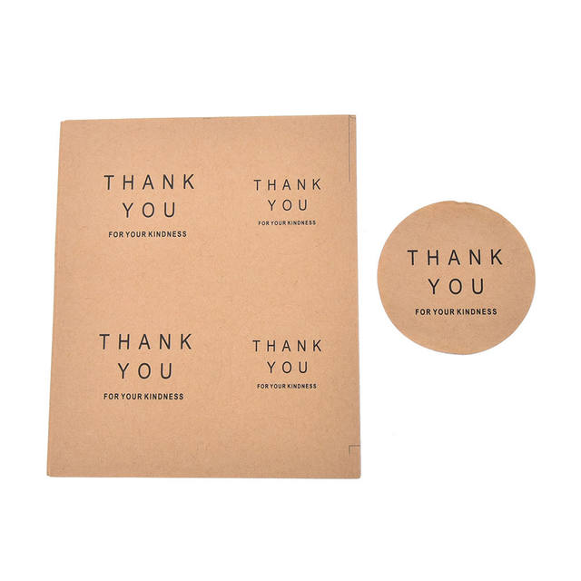 16 Pcs Lot Kraft Seal Label Sticker Thank You Tag Adhesive Stickers Party Favor Gift Bag Candy Box Decor Wedding Souvenirs