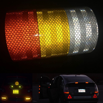 50mm X 10m  Reflective Tape Stickers Car Styling Self-adhesive PET Engineering Grade Barrier Trailer