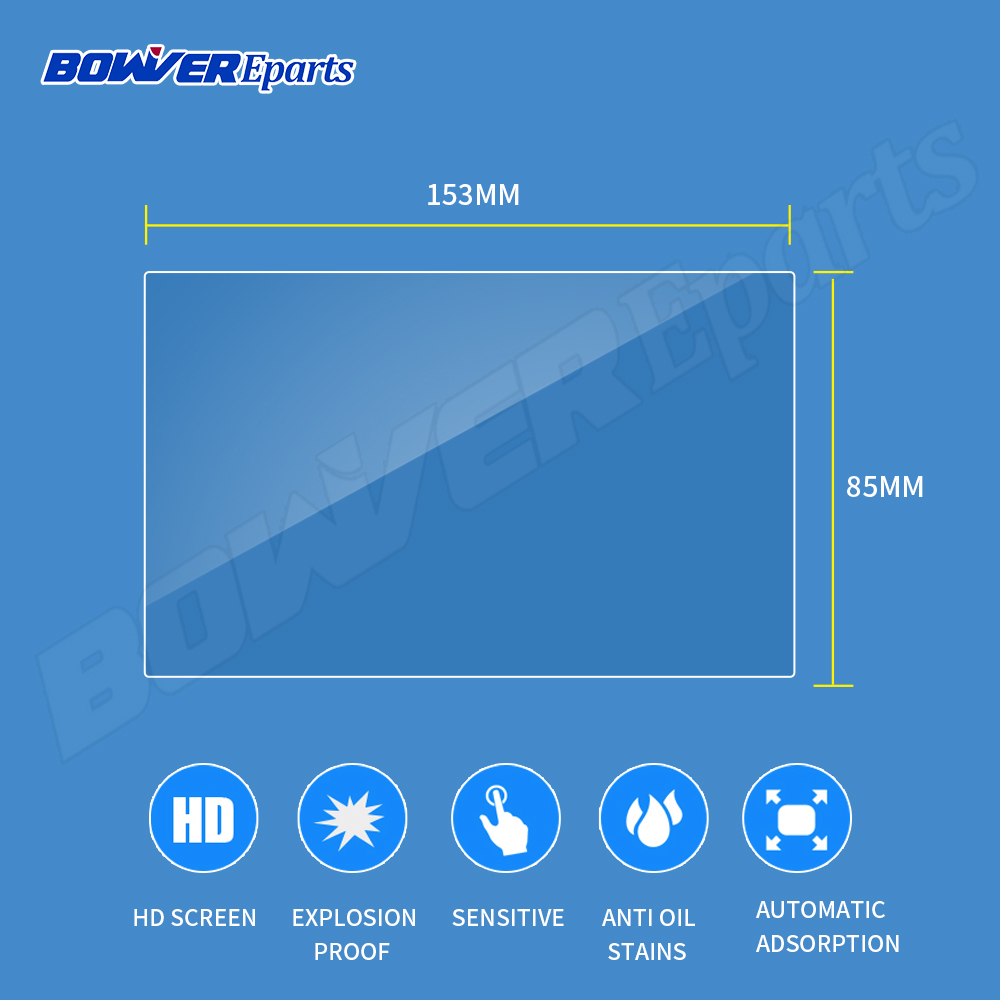 7 8 9 1010.2 Universal Tempered Glass Screen Protector Film for Tablet Ereader Ebook car gps Navigation DVD Stereo Radio image