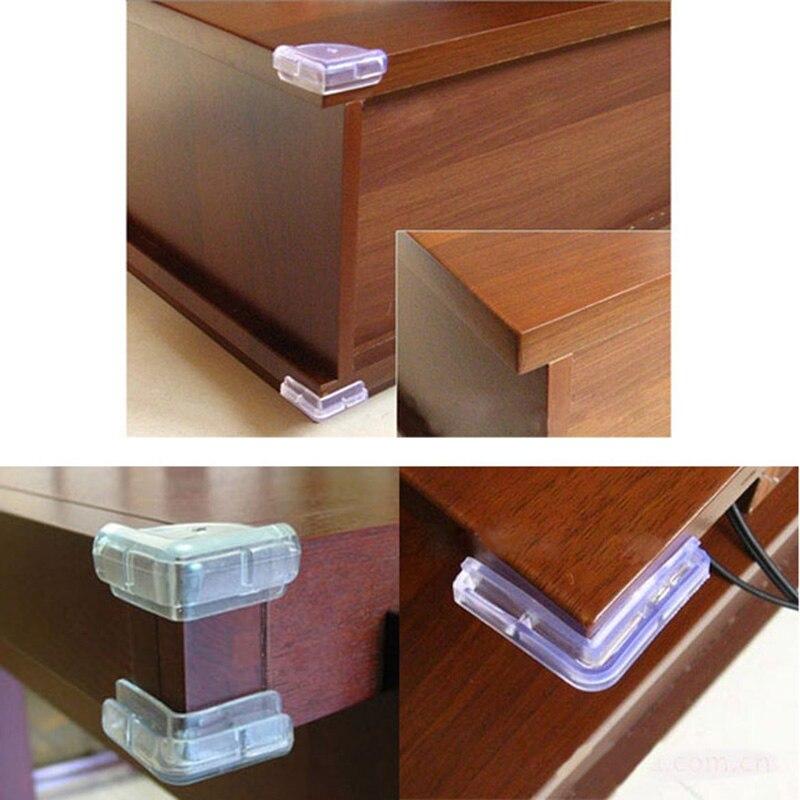 4 Pcs/Set Soft Desk Corner Table Protector Baby Safety Clear PVC DTT88