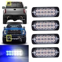 White Blue 12LED Flashing Recovery Strobe Car Emergency Light Grill Breakdown Beacon Warning Hazard 12V стоимость