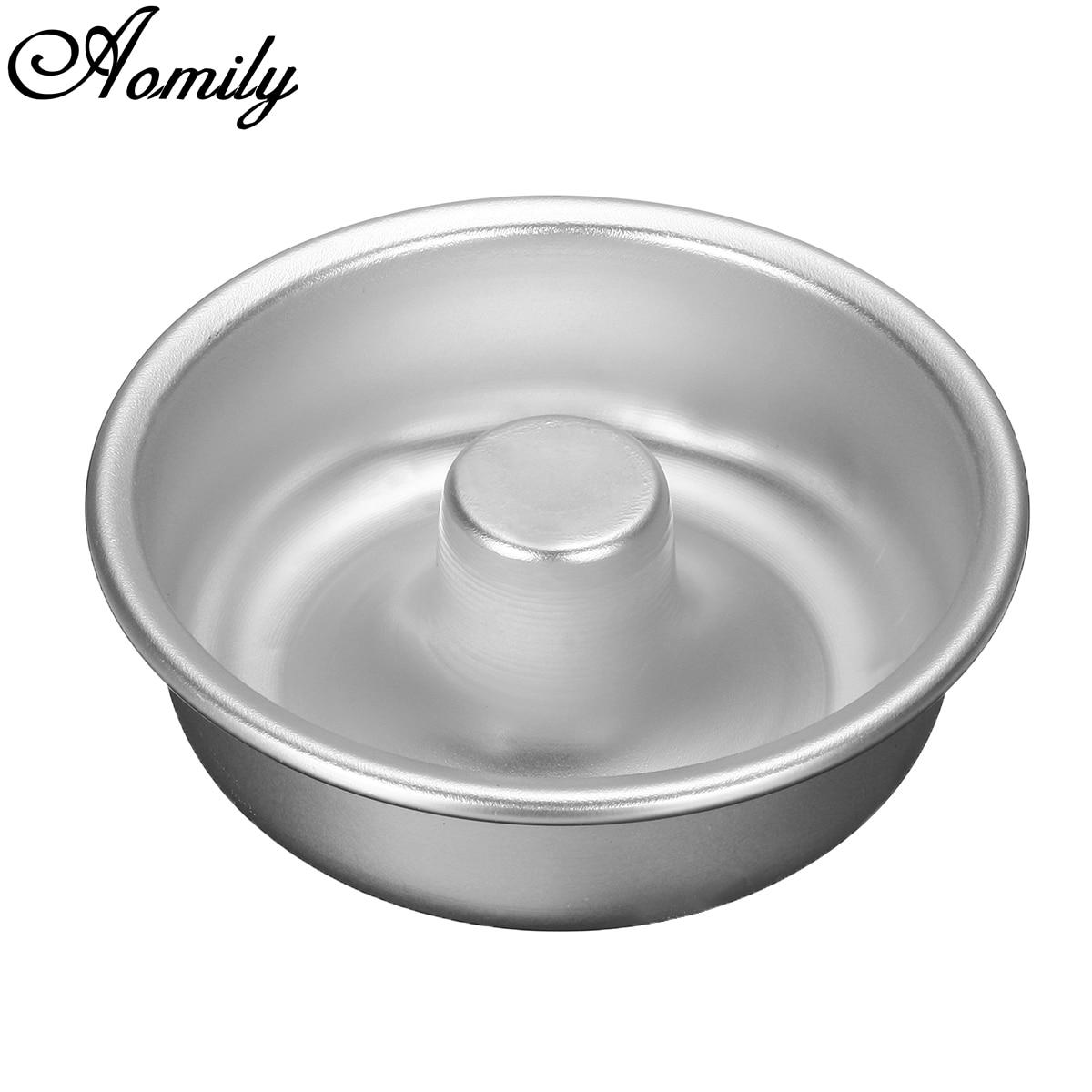 Aomily DIY Pudding Cake Mold Donut Pan Anodized Aluminum Alloy Mould Kitchen Bakery Baking Decoration Tin Ring Tools Bakeware