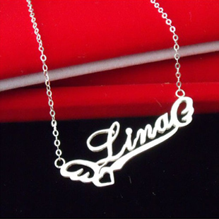 aliexpresscom buy customize 925 sterling silver letter With name necklace individual letters