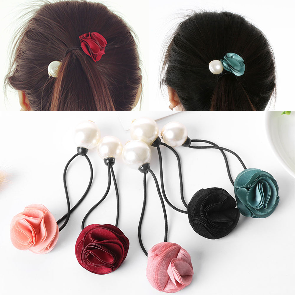 Beauty & Health Styling Products Hair Rope Women Black Elastic Rubber Band Ponytail Holder Headband Braider Tool New Drip-Dry