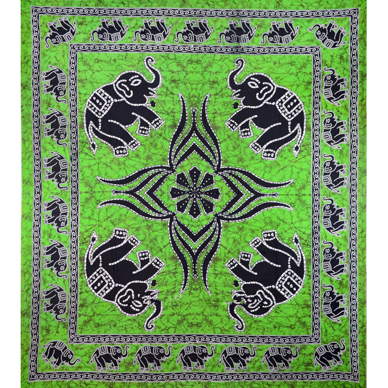 polister elefante mandala tapiz colgante de pared decorativo de pared tapices bohemio impresin del elefante de