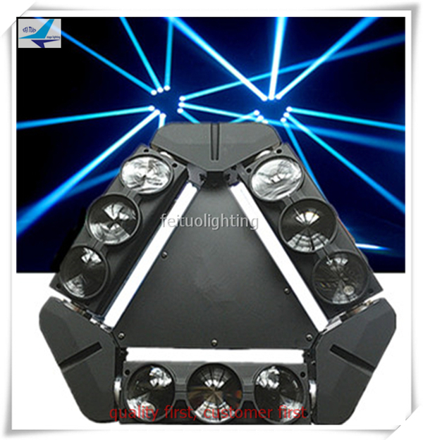 Free shipping 2 pieces dmx spider led 9x12w rgbw led moving head lyre beam ...