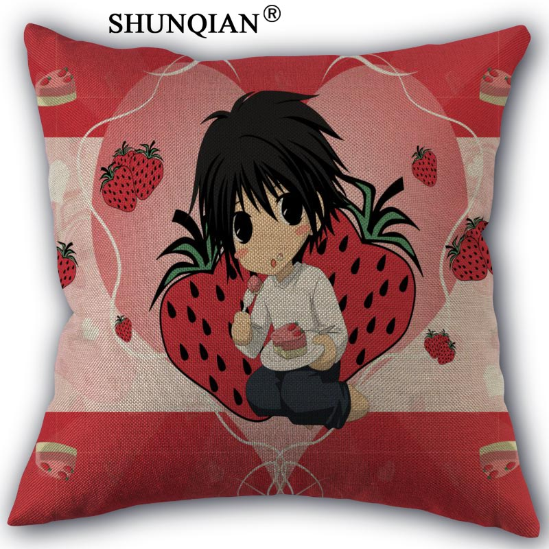 death note Cotton Linen Pillowcase Custom Home textile Decorative One Side Pillow Covers 45x45cm