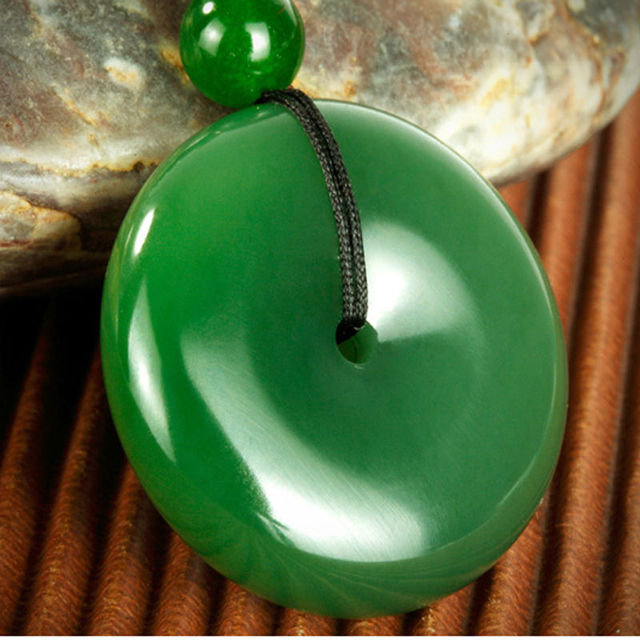 100 natural and nephrite jade pendant peace buckle hand carved in 100 natural and nephrite jade pendant peace buckle hand carved aloadofball Image collections