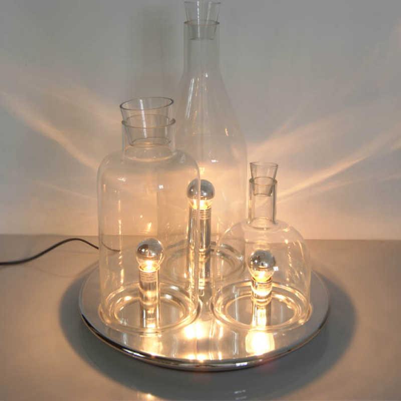 Современная Минималистичная оригинальная модная стеклянная бутылка лампа спальня кабинет прикроватный кафе специальный стеклянный Настольный светильник светодиодный светильник