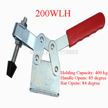 2PCS 400KG 882LBS Horizontal Type Toggle Clamp 200WLH Nonslip Handle U Bar Flanged Base цена