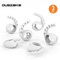 Duszake Replacement Soft Silicone Antislip Ear Hook Cover Earbuds Tips Earphone Silicone Case For AirPods Apple