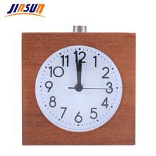 JINSUN Square Alarm Clock For Children Wooden Snooze Clear Electronic Clock Needle 100% Wood Slience Wekker