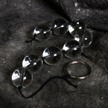 25-28mm pyrex glass anal beads vagina ball string butt plug crystal dildo fake penis adult sex toys for gay women men masturbate
