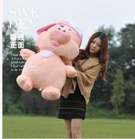 filling toy large Mcdull pig plush toy soft throw pillow,birthday gift w5171