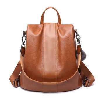 High Quality Pu Leather Women Backpack Anti Theft Women's Mochila