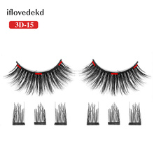 iflovedekd Magnetic Lashes 3D False Eyelashes On Magnets Reusable Fake Eye 1 Pair