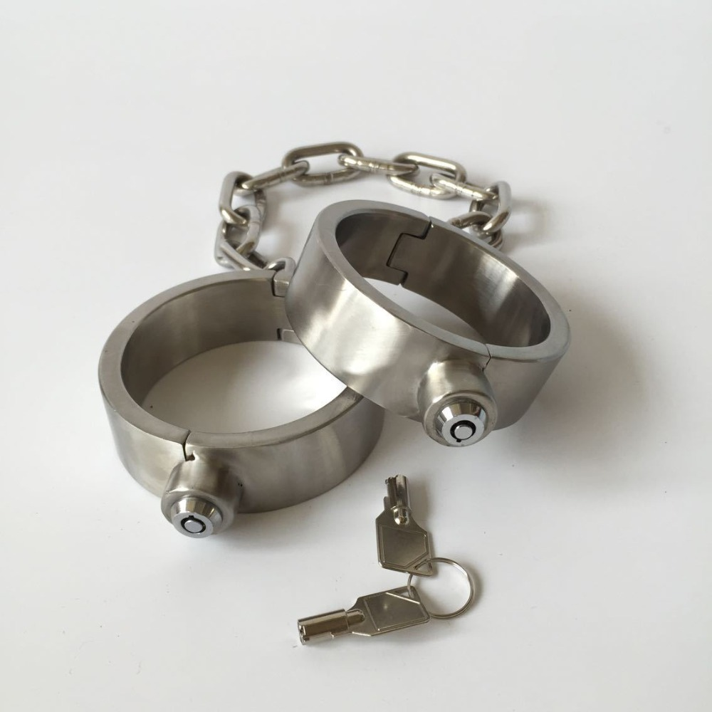 stainless steel leg irons long chain ankle cuffs sex products bdsm bondage restraints sex slave shackles sex toys for couples stainless steel leg irons long chain ankle cuffs sex products bdsm bondage restraints sex slave shackles sex toys for couples