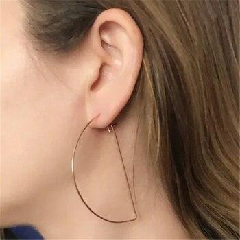 9aee704a8fdf Pendientes de aro de estilo Dubái de moda delicados pendientes de ...