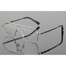 Retro Mens Metal Big Frame Pilot Glasses Double beam Goggle Transparent glasses Clear glass Spectacles Eyeglass frames H5